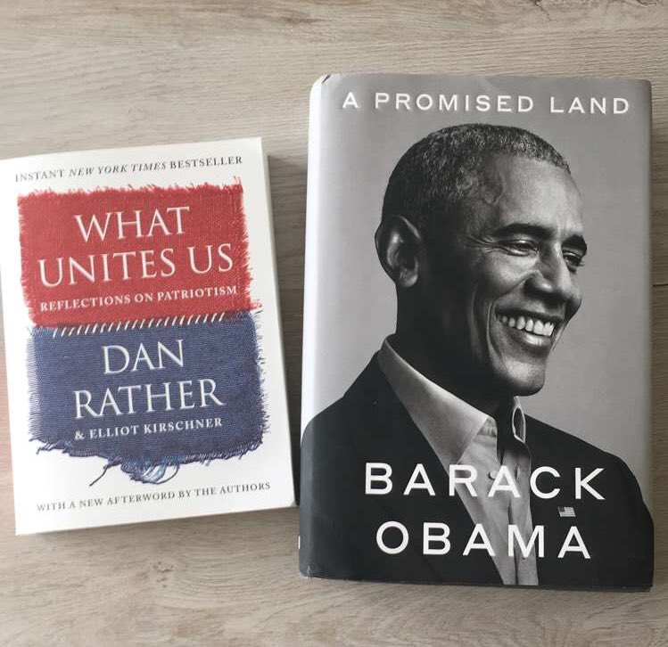 Next two 📖. Excited to start. #WhatUnitesUs #APromisedLand @DanRather @BarackObama