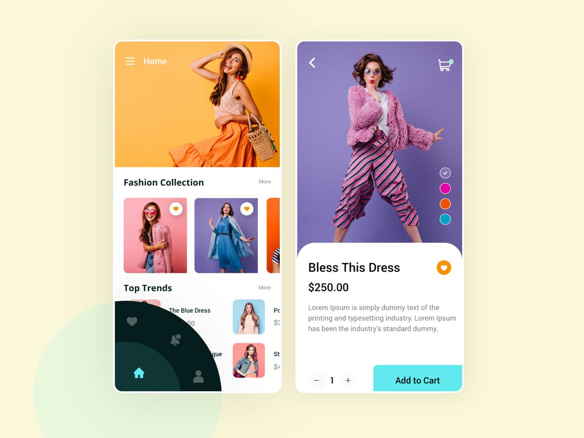 """Check out new work on my @Behance profile: """"eCommerce Store App Design UI""""    The team is available for new projects! Drop us a line: contact@techensolutions.com  #fashiondesigner #fashion #ecommerce #store #startup #startsmall #AppDeveloper #uiux #mobile"""