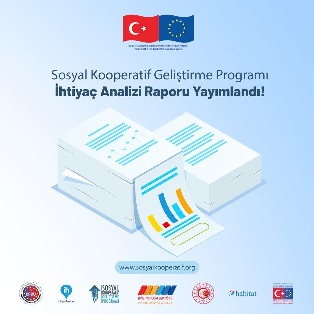 Sosyal Kooperatif Geliştirme Programı İhtiyaç Analizi Raporu Yayımlandı!  Raporun Türkçe ve İngilizce versiyonlarına  linki ile ulaşabilirsiniz.  @ABBaskanligi @sivilsektor @EUDelegationTur #sosyalkooperatif #sosyalkooperatifprogramı