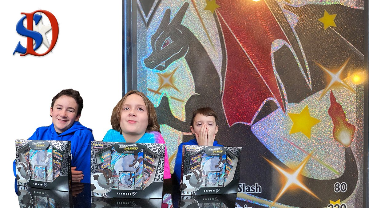 THREE Shiny Charizard Dubwool Collection Boxes Unboxing! YES WE PULL THE CHARIZARD!  #Charizard #shinypokemon #shinycharizard #pokemoncards #PokemonTCG #Pokemon #Unboxing   SHINY CHARIZARD!! THREE CHAMPIONS PATH Dubwool boxes UNBOXING  via @YouTube