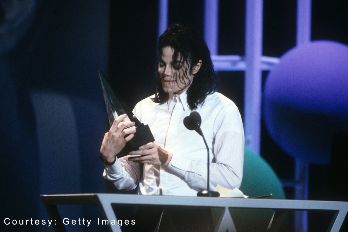 """On this day in 1993, Michael Jackson won three American Music Awards for Favorite Pop/Rock Album for DANGEROUS, Favorite Soul/R&B Single for """"Remember the Time,"""" and International Artist Award of Excellence.   Dig back into the award winning album:"""