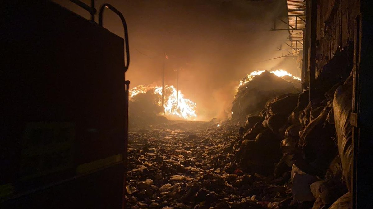 Maharashtra: Fire breaks out at Ramtekdi garbage processing plant in Hadapsar area of Pune. 11 fire tenders have been rushed to the spot. Fire fighting operation underway. More details awaited.