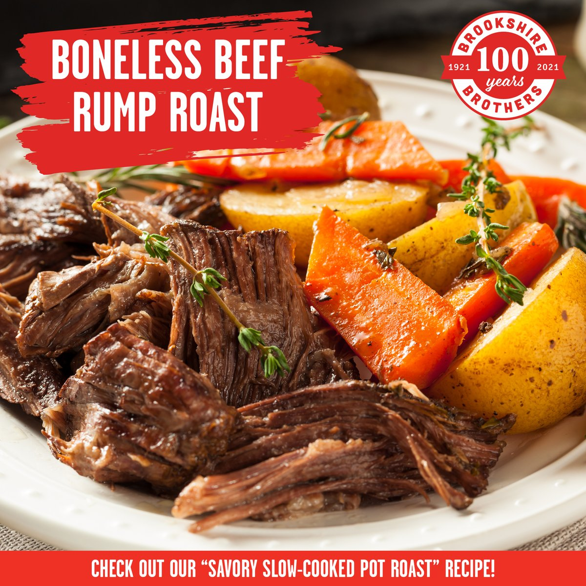 This week save on our Boneless Beef Rump Roast and use it to make our Savory Slow-Cooked Pot Roast recipe 🥘 🍽 ➡ bit.ly/3c2cqUM #BrookshireBrothers #Recipe #Instayum #roast #cookathome