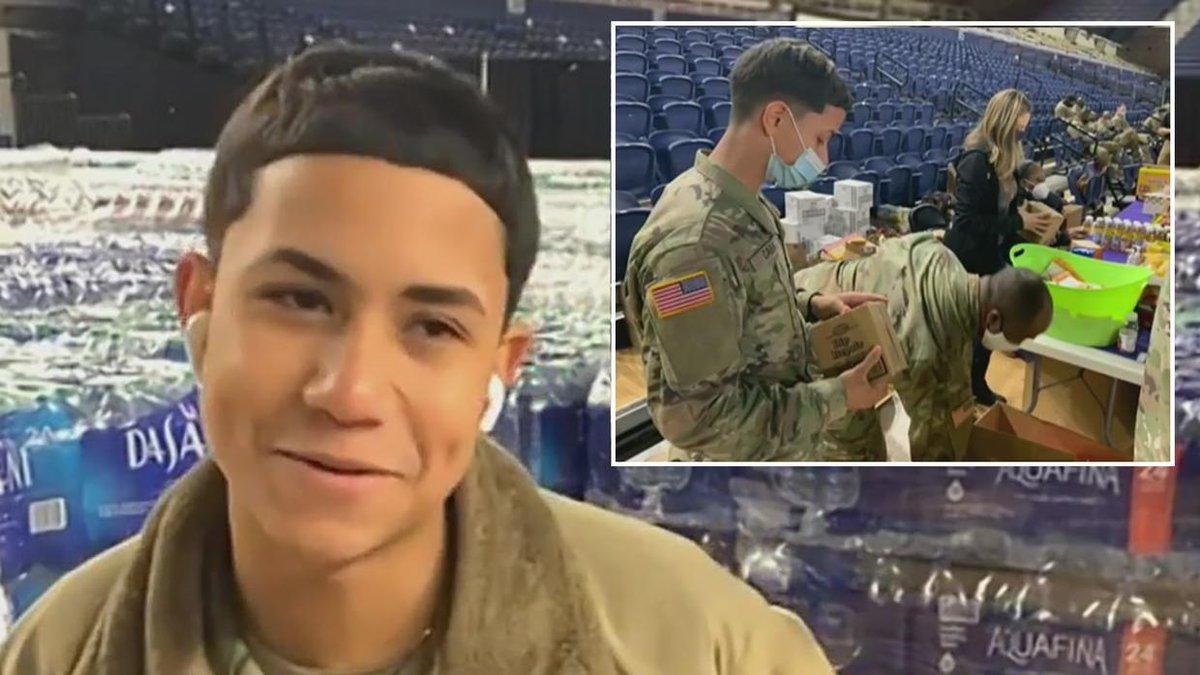 """""""Mi mamá estaba llorando"""": joven hispano de la Guardia Nacional se ofreció como voluntario para cuidar investidura."""