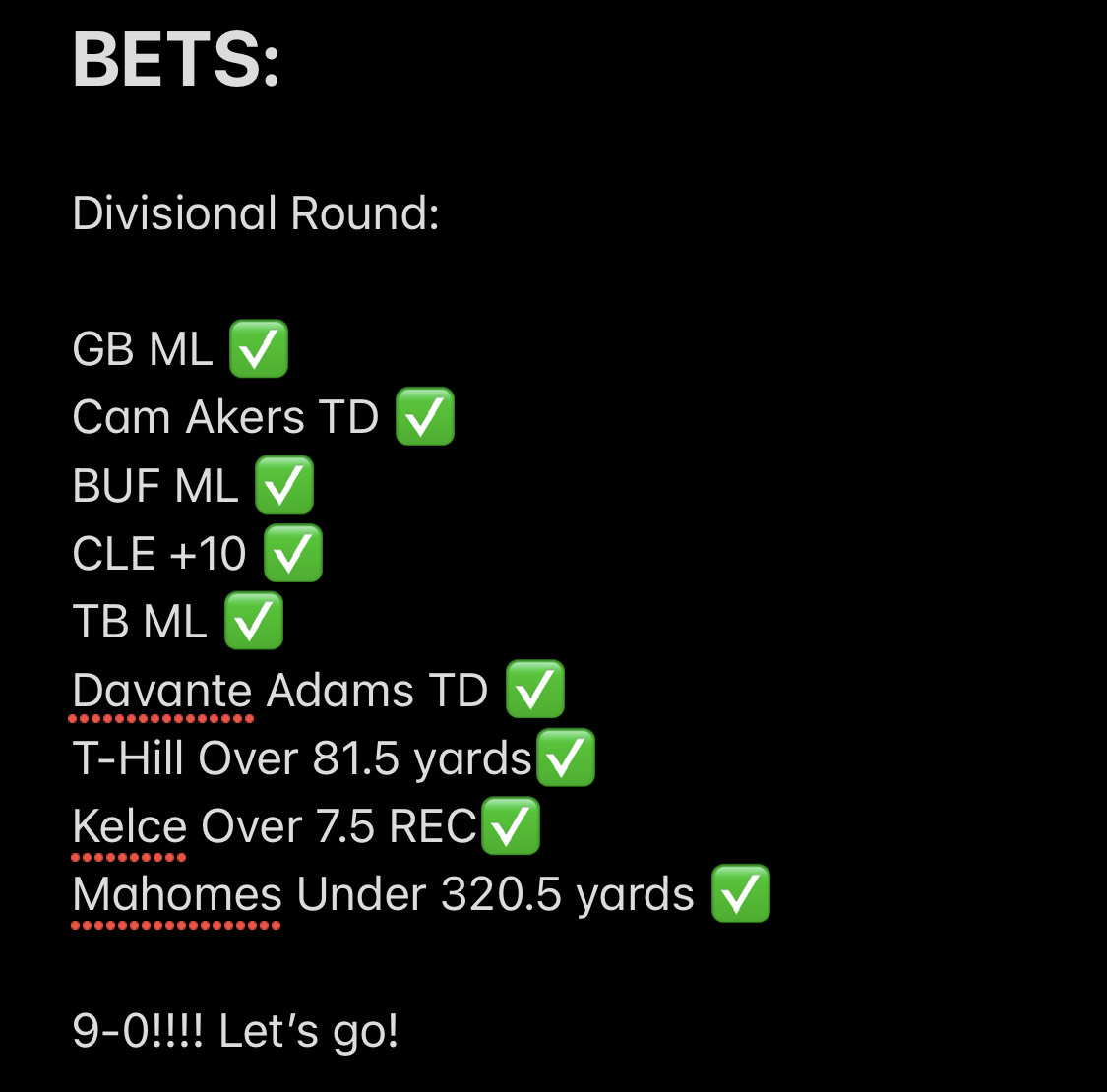 We just DOMINATED last week's #DivisionalRound Betting. Get in on our #NFL #NBA and #MMA bets for this weekend here:   Only $25 for a month. #GamblingTwitter #NFLTwitter #NBAtwitter #MMATwitter