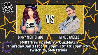 Check it out SMRTies, it's the #YouTube replay of this week's Celebrity QuizMatch featuring the stars and creators of @OSGSGameShow, @GinnyNightshade and Mike D'Angelo! |