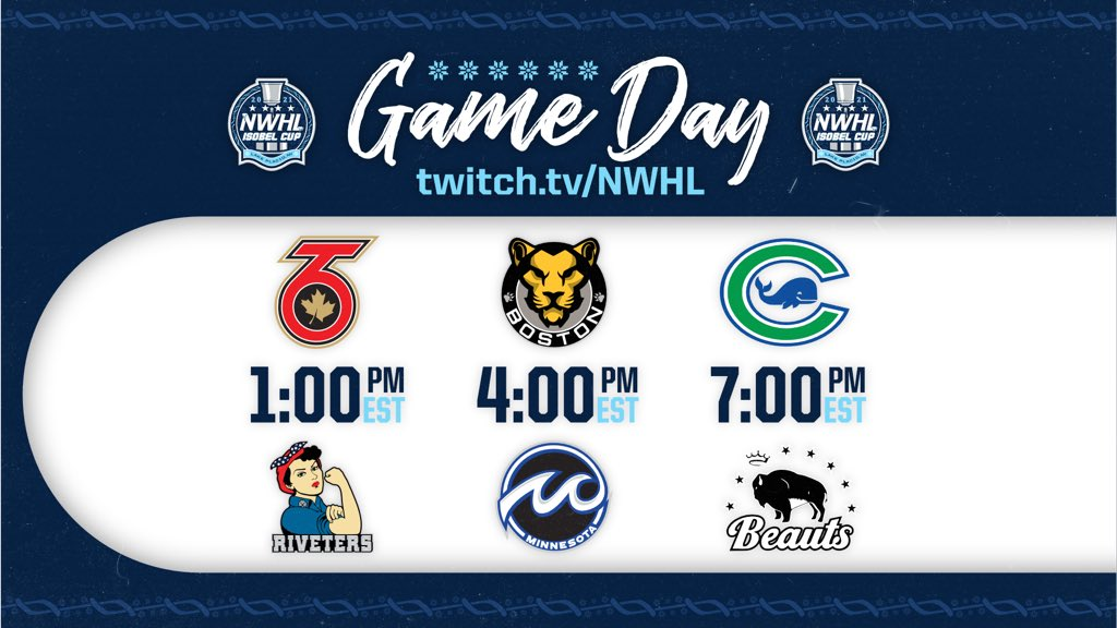 Replying to @NWSL: *𝘁𝗮𝗽𝘀 𝗺𝗶𝗰*  This is now an @NWHL stan account 🏒  Here's what we'll be watching today ⤵️