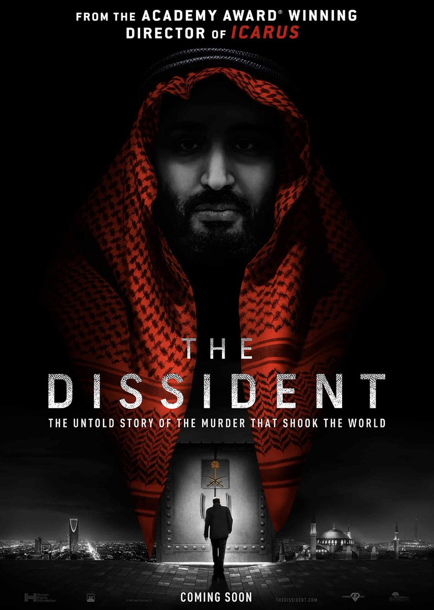 #TheDissident When Washington Post journalist #JamalKhashoggi disappears in Istanbul, his fiancée and dissidents around the world piece together the clues to a murder and expose a global cover up.  👀 #documentary #crime #trhiller