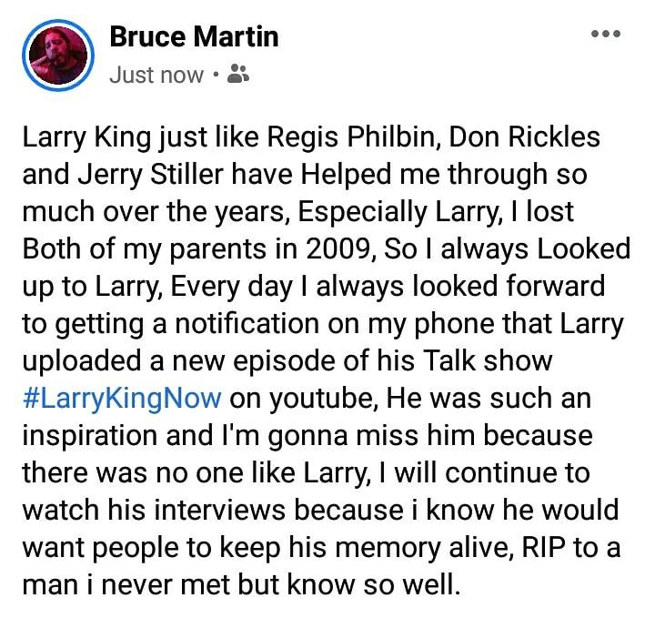 😥  #LarryKing #RIPLarryKing #LarryKingNow #SaturdayMorning #SaturdayThoughts #LarryKingRIP #Rememberinglarryking #CNN @CNN