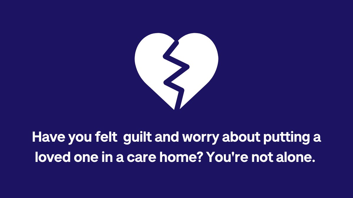 Some people may experience feelings of guilt and worry when a loved one goes into a care home. Have you felt the same?  Join the discussion on our online community here: