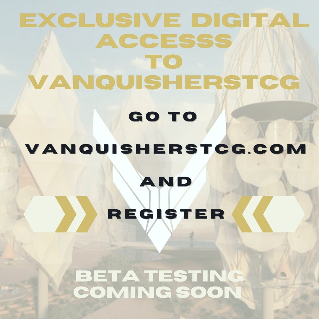 Everyone register at  to get exclusive digital access to beta testing!  Can't wait to get your feedback!  #vanquisherstcg #tcg #MTG #mtgcommunity #pokemon #picoftheday #tcgplayer #scifi #space #magic #war #gamerlife #tabletopgames #pokemontcg #yugiohtcg