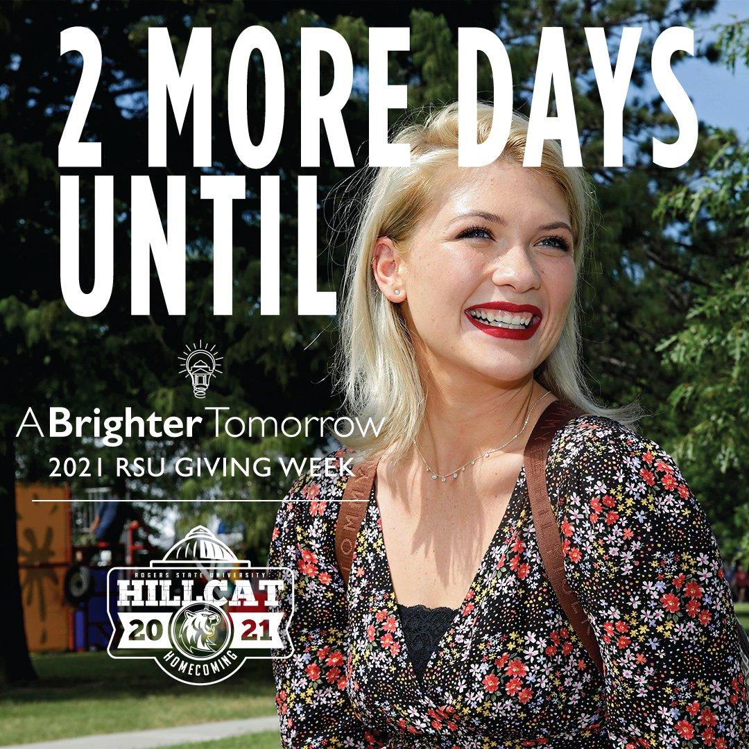 Homecoming coincides with RSU's annual giving week. Brighter Tomorrow campaign raises money for student scholarships. Make dreams come true for students: at www.rsu.ed/give.   #RSUHoco #HillcatNation #Homecoming #Givingweek  #twodays #navyandred #clapclapclaw #Scholarships