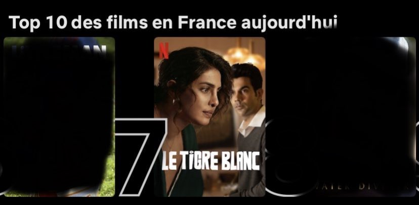 #TheWhiteTiger and #WeCanBeHeroes are both in top 10 of France, and I don't know how to express how proud I am of @priyankachopra. She produced #TWT, a movie that expose the social conditions of India. And played in #WCBH as the antagonist. She never disappoints 💛