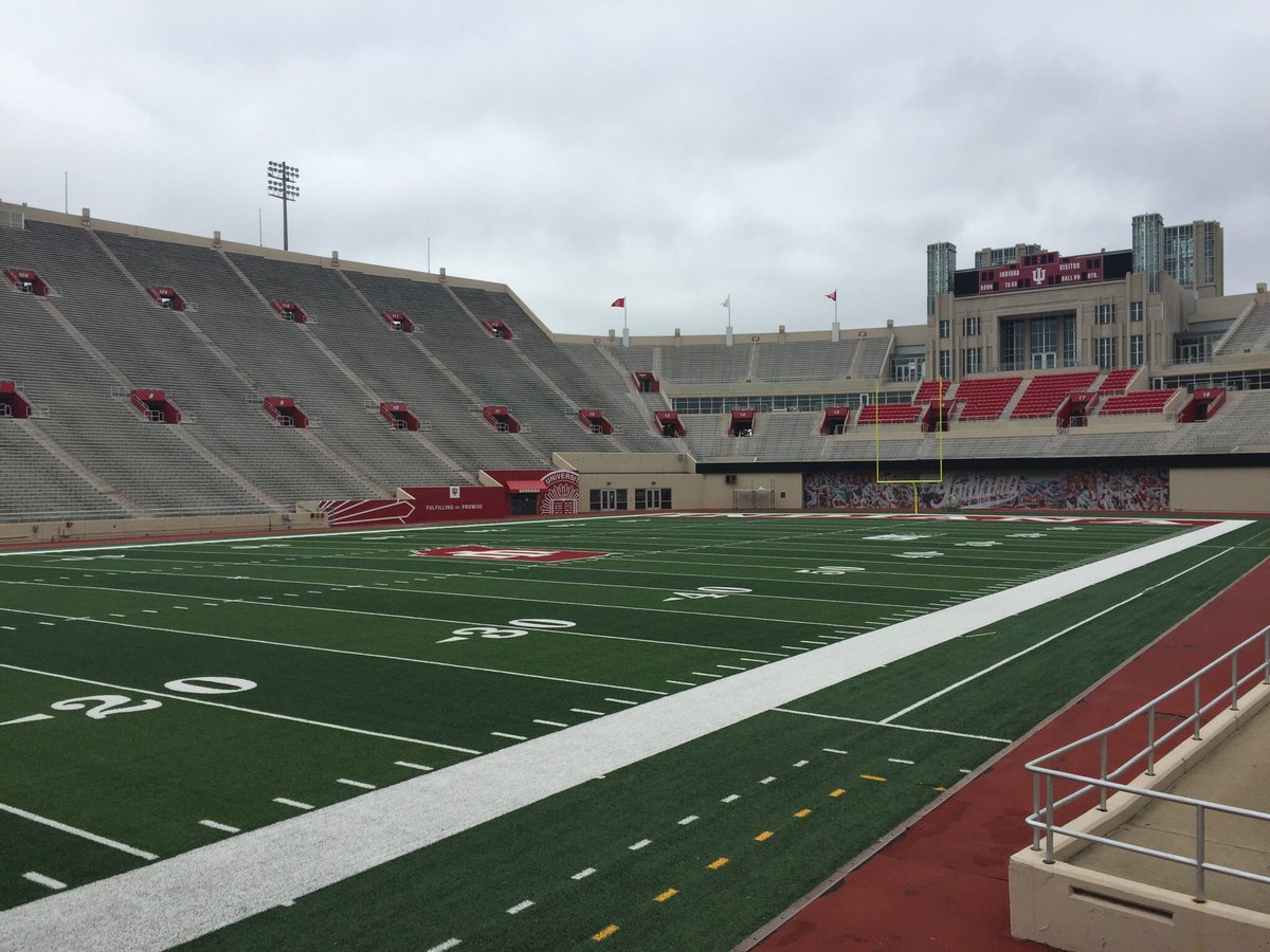 75 stadiums in 75 days No. 6: Indiana Memorial Stadium. I caught it in the middle of a massive renovation to the end zone which now makes the stadium state-of-the-art #IUFB #GoUI
