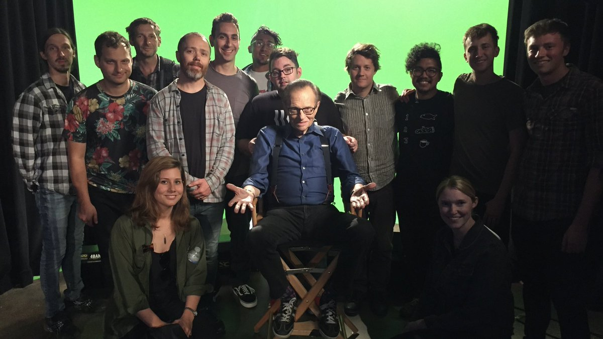 We made an absolutely batshit insane @funnyordie video with Larry King where he hosted his talk show in the future as a disembodied head in a jar and he was game for anything. RIP. @jasonflowerz @MattMattMayer