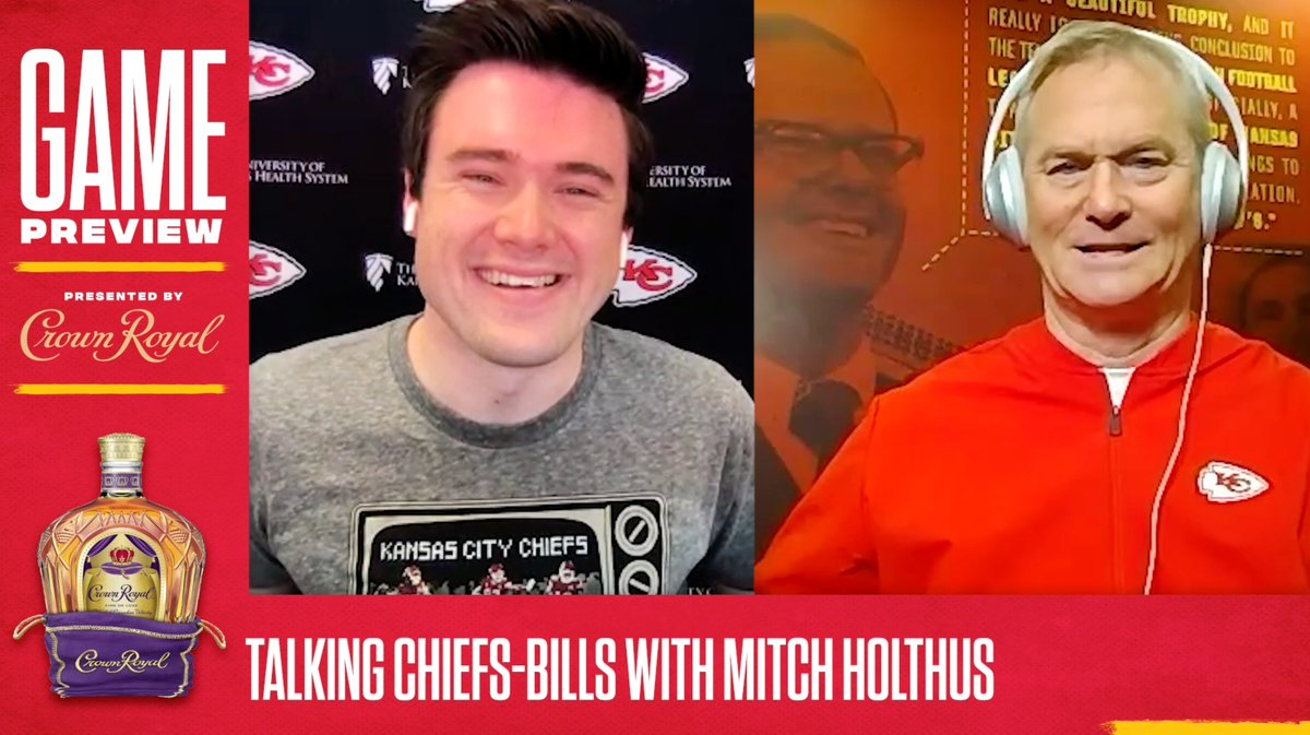 .@mitchholthus joins @KCChiefs_Matt this week to preview tomorrow's AFC title game against the Buffalo Bills. @CrownRoyal | #RunItBack