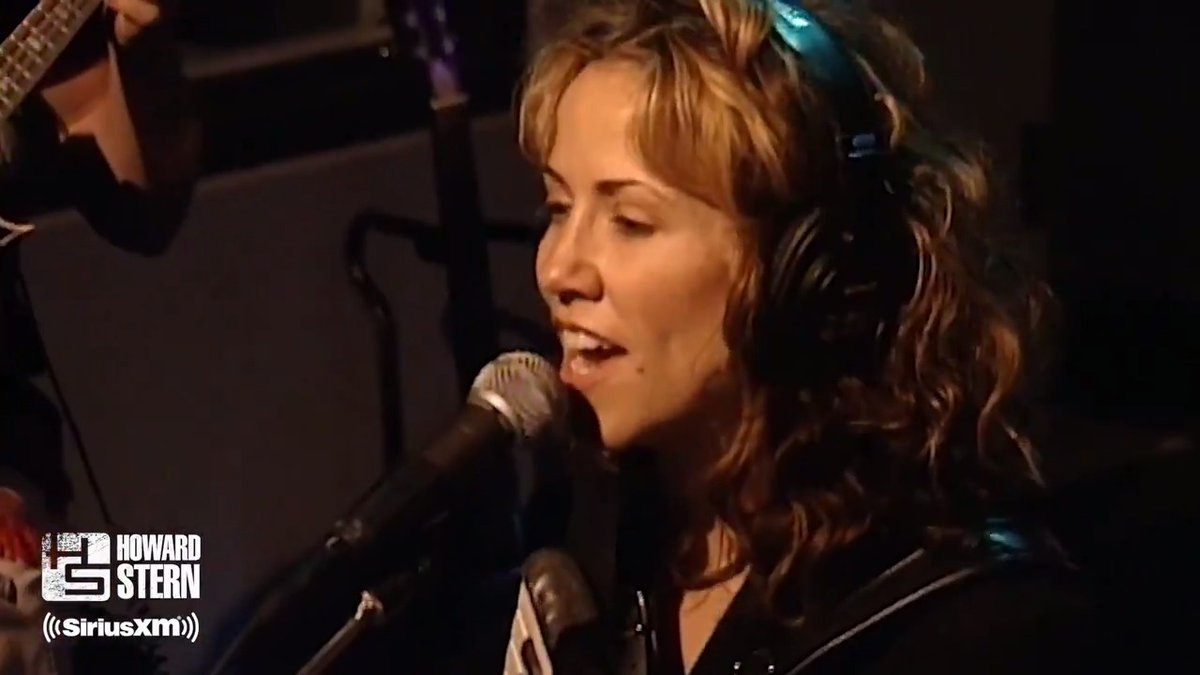 🎶Are you strong enough to be my man … Howard?🎶   @SherylCrow came by with her accordion to perform #StrongEnough live on the #SternShow in 1997.