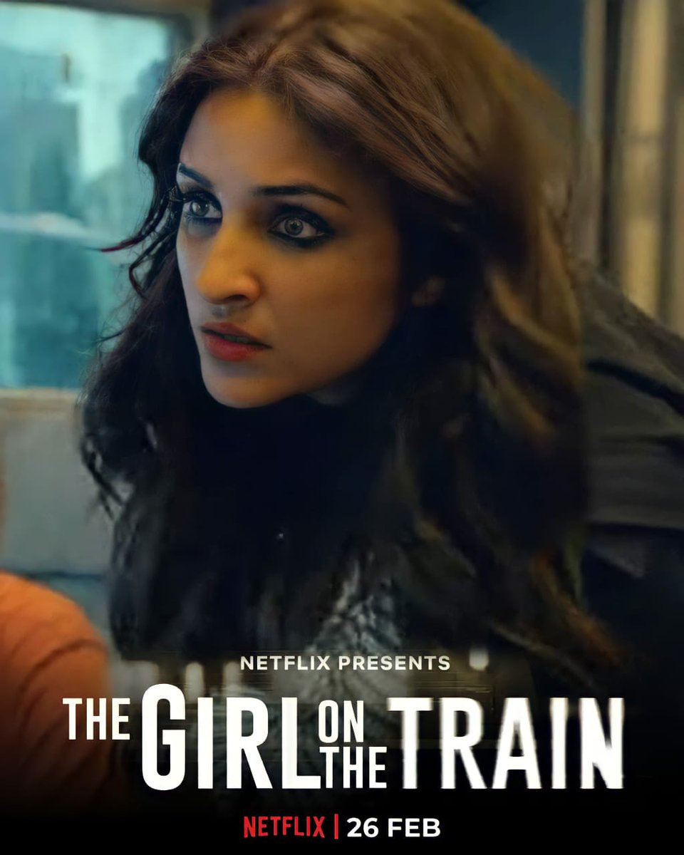 Is she really a train wreck, or she is just covering her tracks?   #TGOTT premieres on 26 Feb, 2021 only on Netflix!  @ParineetiChopra @NetflixIndia #TheGirlOnTheTrain