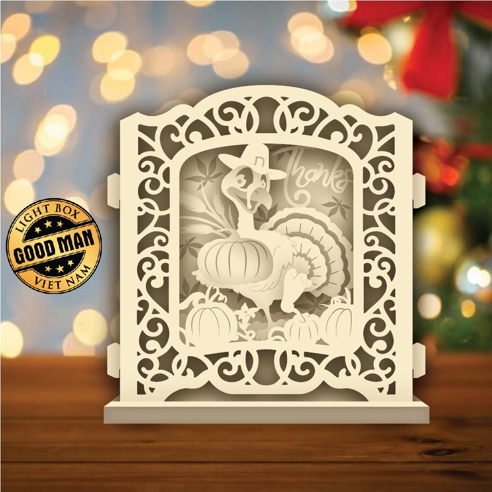 Thanksgiving Day 2 - Pop-up Light Box File - Cricut File - LightBoxGoodMan    Goodman  $6  #Goodman #Thanksgiving #Day #all #happythanksgiving