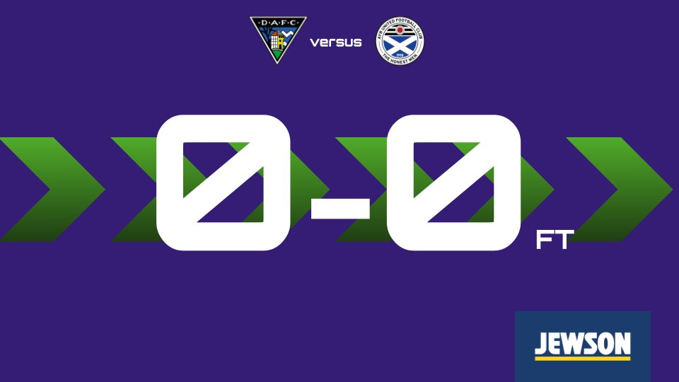The Honest Men return to action with another goalless draw against Dunfermline.   Ayr had the only shot on target of the game and looked the more likely to score but cannot make the breakthrough. Next up it's away to Dundee on Tuesday.