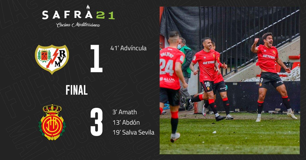 🔚  ¡FINAAAAAAL! ➕3⃣ para el #RCDMallorca en el primer partido de la segunda vuelta 💪👺  #RayoRCDMallorca 1-3