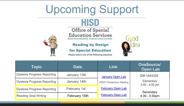 Dyslexia PD, needs? @AAMilneES join in. #OGinHISD #SaturdayMorning