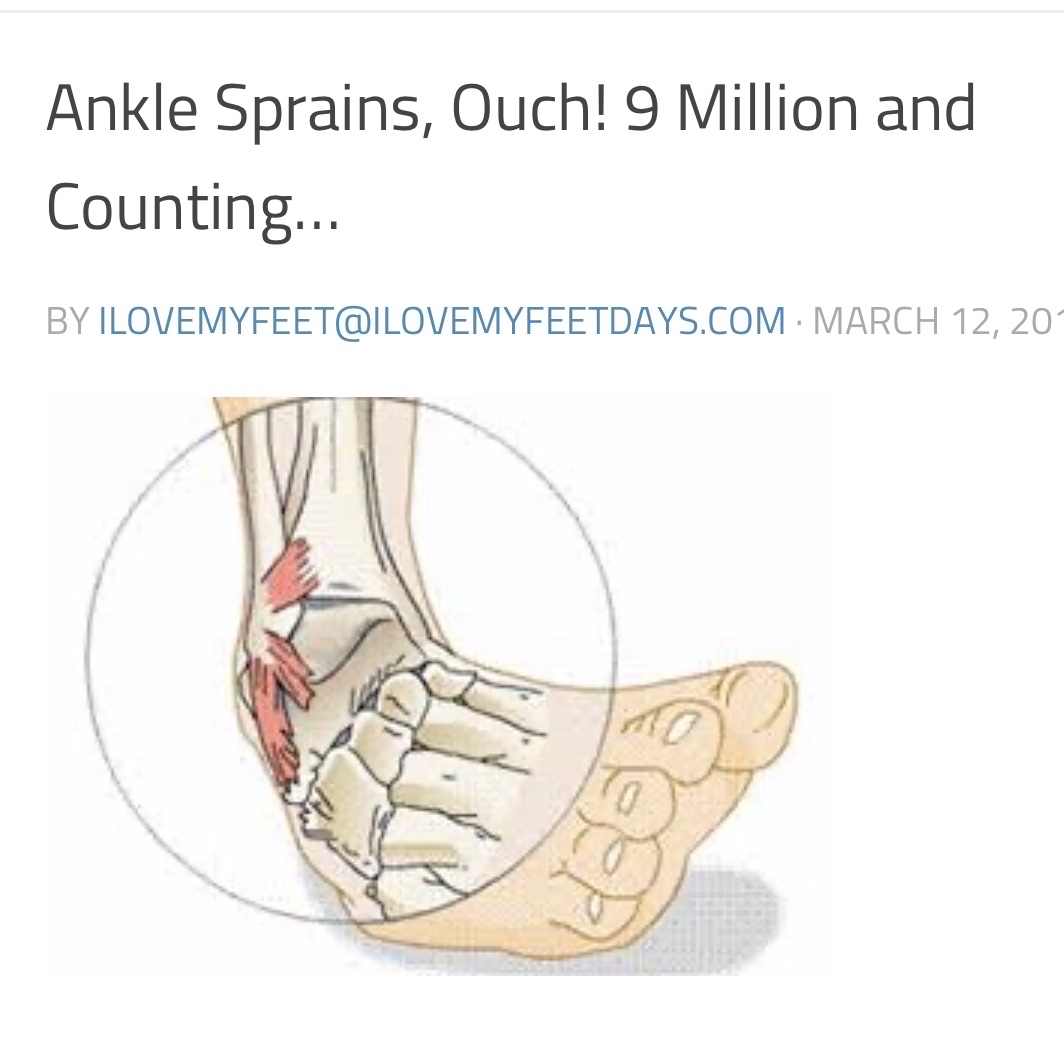 Ankle sprains; ouch!, 9 Million and counting! Our blog helps you avoid them and what to do if you get one.  #health #healthy #feet #SaturdayMorning #SaturdayThoughts #SaturdayMotivation #SaturdayVibes #GoodSaturday