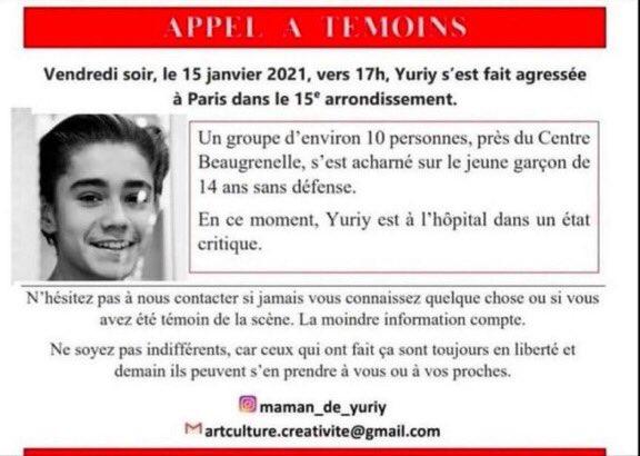 [APPEL À TEMOINS] 🔴Un jeune footballeur U15 de l'ACBB sauvagement agressé et aujourd'hui dans le coma Help ! 🔴On compte sur vous et sur notre communauté du football ! #Yuriy @FFF