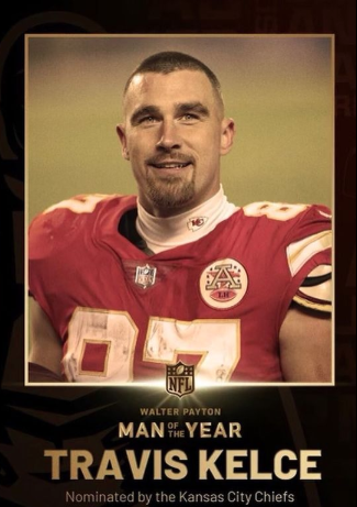 Another win for KC! @tkelce won the #WPMOY Charity Challenge! Winning the Charity Challenge means Travis netted $25k for @87Running! Show your support & order a Kelceroni today! Every Kelceroni purchased is a donation for this great cause! Way to go Trav!