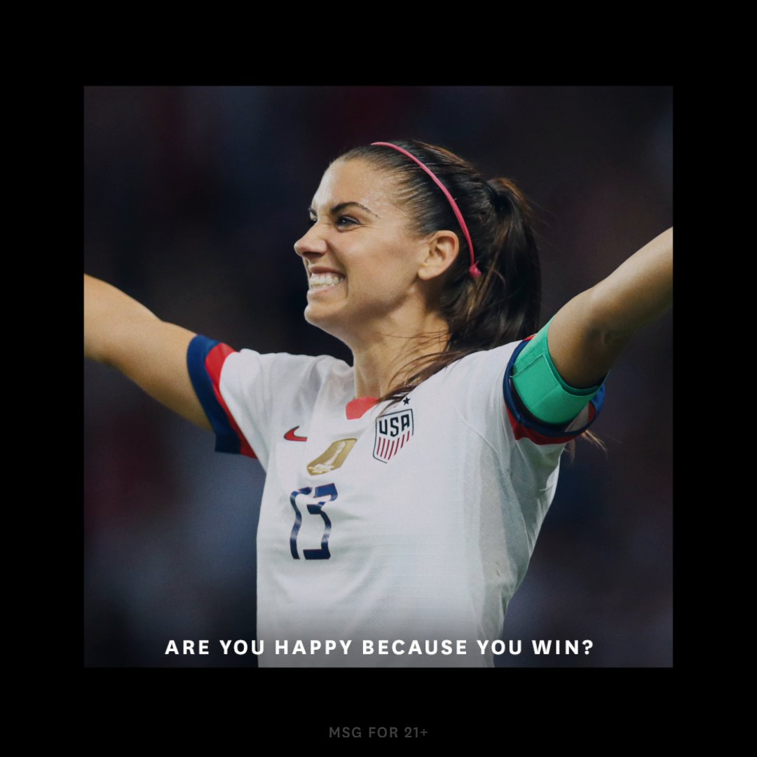 Is @alexmorgan13 happy because she wins, or does she win because she's happy?