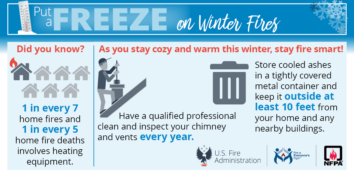 Put the freeze on home winter fires! #Saturdaymorning #Vawx #fireplace #woodstoves #fireprevention