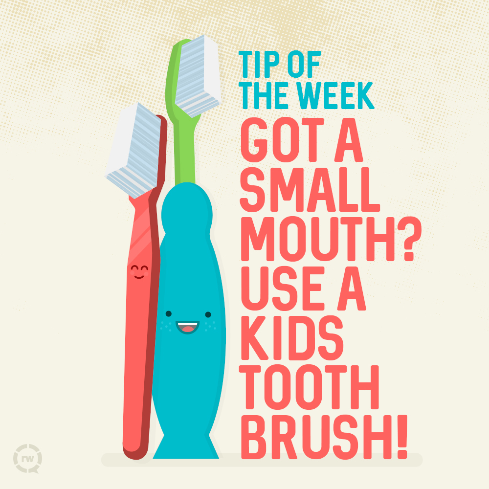Small toothbrushes aren't just for kids after all!  #saturdaymorning   #madsenandhirschdentalcare