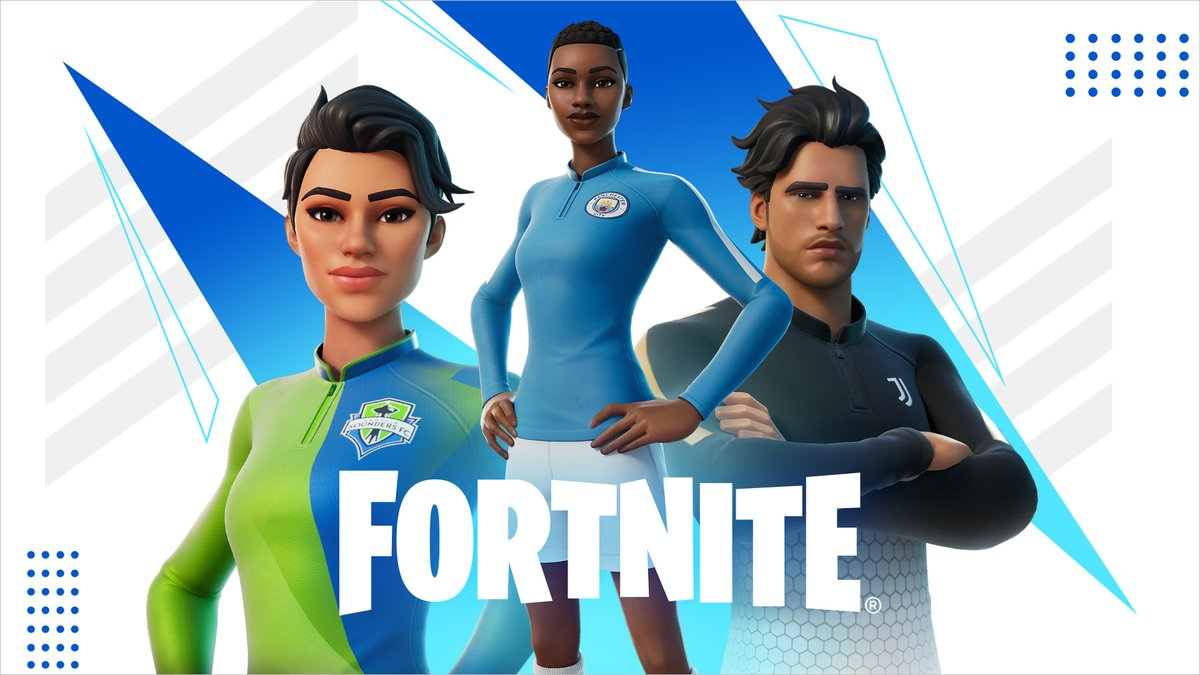 Put us in, coach.  Team up with 23 global Football Clubs and rock the Kickoff set in Fortnite today: