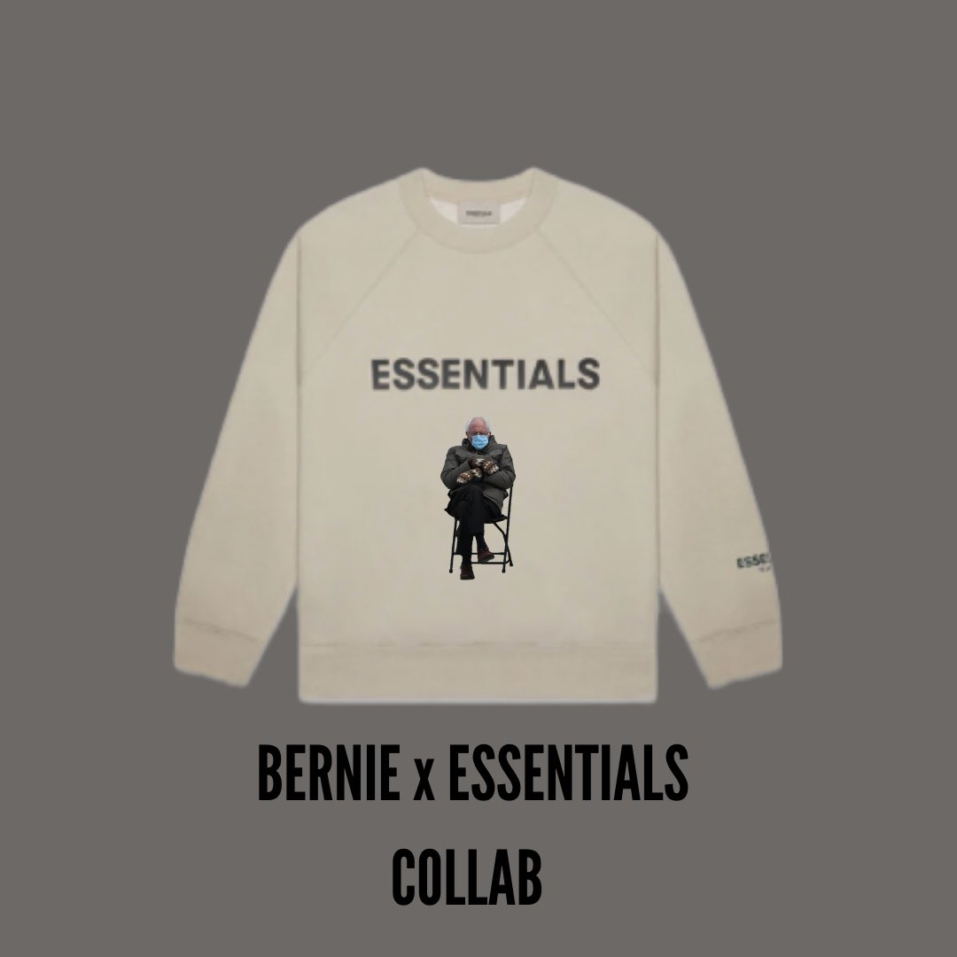 #essentials #fearofgod #berniesanders @BernieSanders make this happen. I will pay $150 for this without a doubt 😂