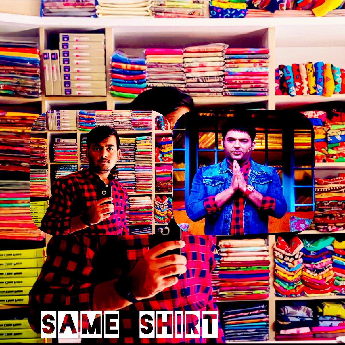 Wow 😮 @KapilSharmaK9 Sir Same Shirt 👔 🤷🏻♂️😍😍😍❤️❤️❤️ tonight's Episode Buhut Maza Aara hain #TheKapilSharmaShow @GulshanGroverGG sir @almostbharat @kikusharda @sumona24 @haanjichandan @Krushna_KAS @apshaha