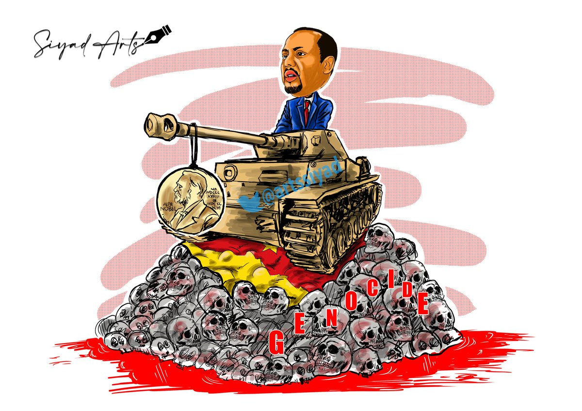 From a peacemaker to a warmonger  #siyadarts #artspeaks #TigrayGenocide #StopWarOnTigray  #Tigray
