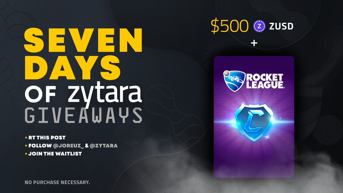 #SevenDaysofZytara - Day Three!  Giving stuff away is always fun, this is why I'm glad that I can host day 3 of 7 Days of @zytarahq Giveaways!  Follow the steps in the graphic down below for a chance to win $100 In RL credits and $500 $ZUSD!   😳🔥