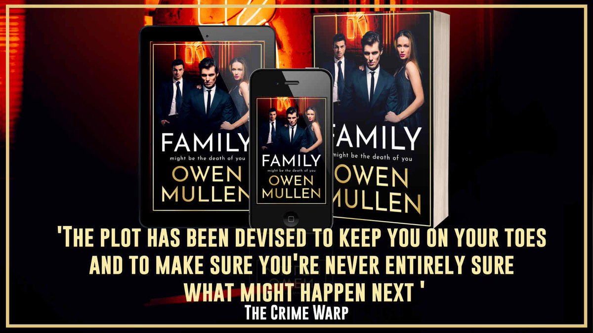"""This is a ferocious and compelling insight into 'family' dynamics"" says @LizMistryAuthor about Family by @OwenMullen6    Family is available now ➡️    Join the live author chat with @OwenMullen6 at 7pm here:"