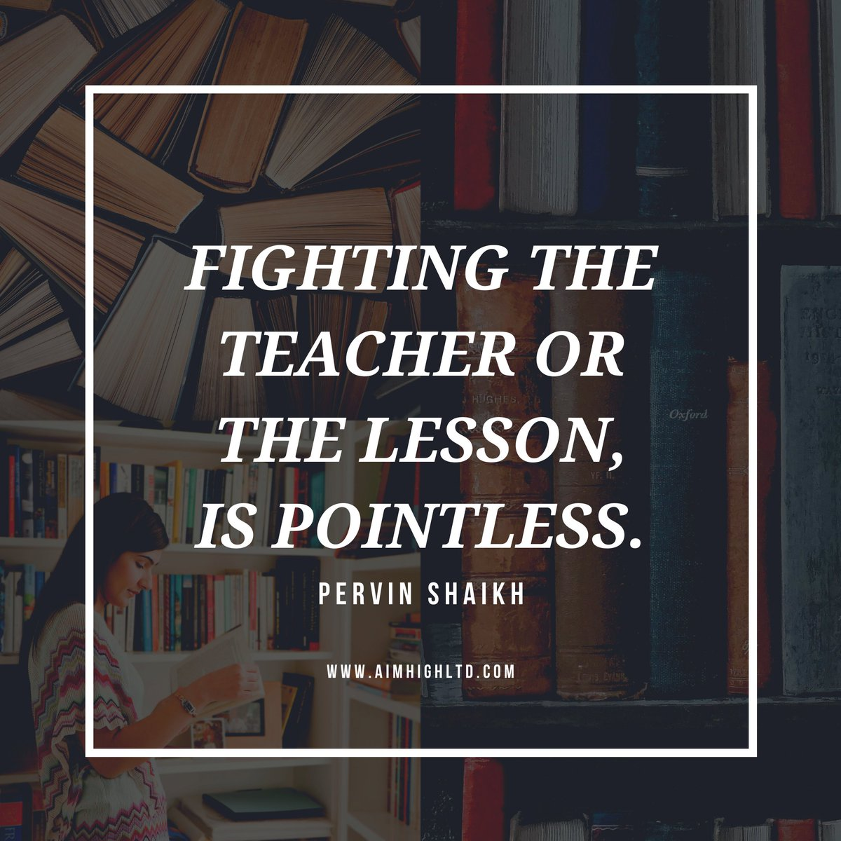 Fighting the teacher and the lesson is pointless. Both keep coming back until the lesson is learnt.     #AimHigh #makeyourownlane #entrepreneur #leadership #successtrain #defstar5 #mpgvip #startup #saturdaymotivation