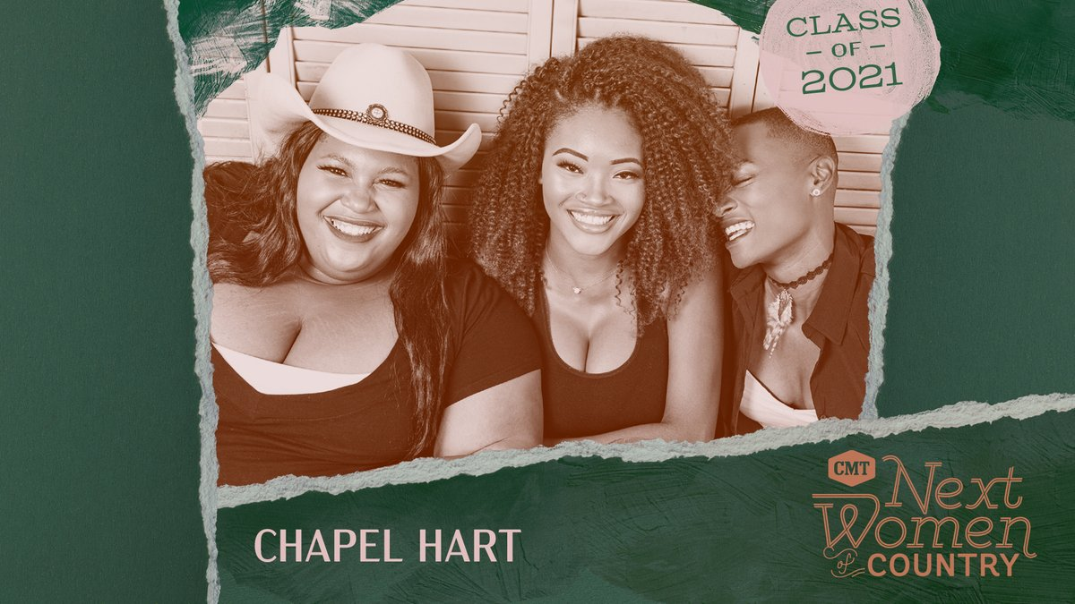 Congrats to this trio, @ChapelHartBand! We're so happy to have you as a part of this year's #CMTNextWomen class 🎉 2021 is already starting off amazing 😍