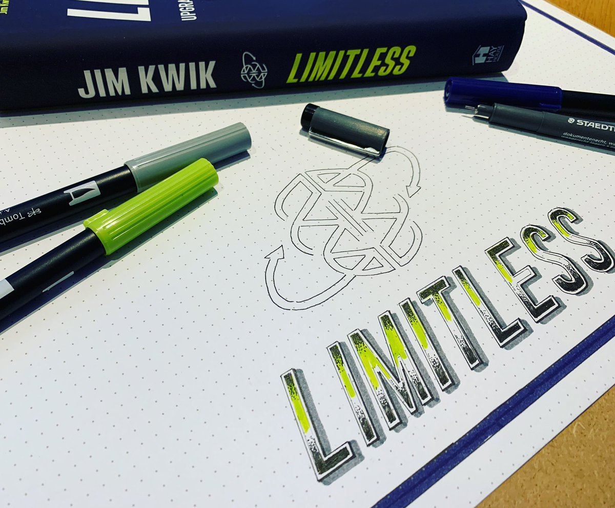 Replying to @DaniSaveker: Next step done - now to read and enjoy creating a visual synopsis for #limitless @jimkwik
