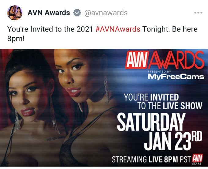 So who is watching the AVN Awards tonight?  Who are you championing for? Other than myself of course