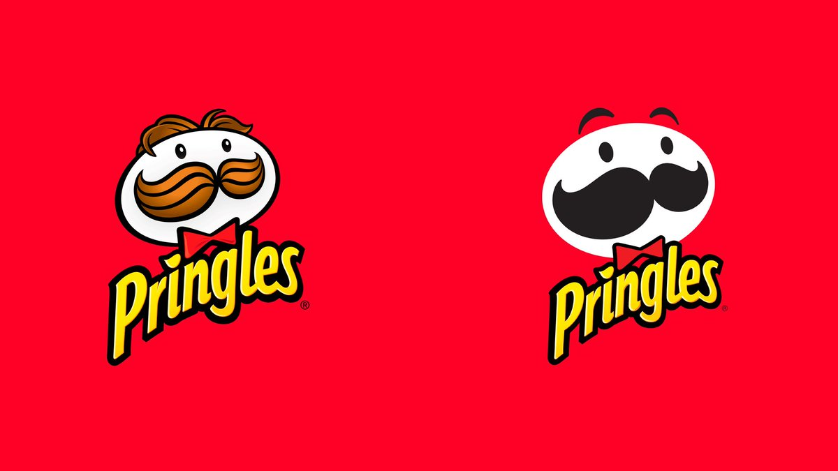 The new logo redesign is basically Mr Pringles losing his hair due to stress