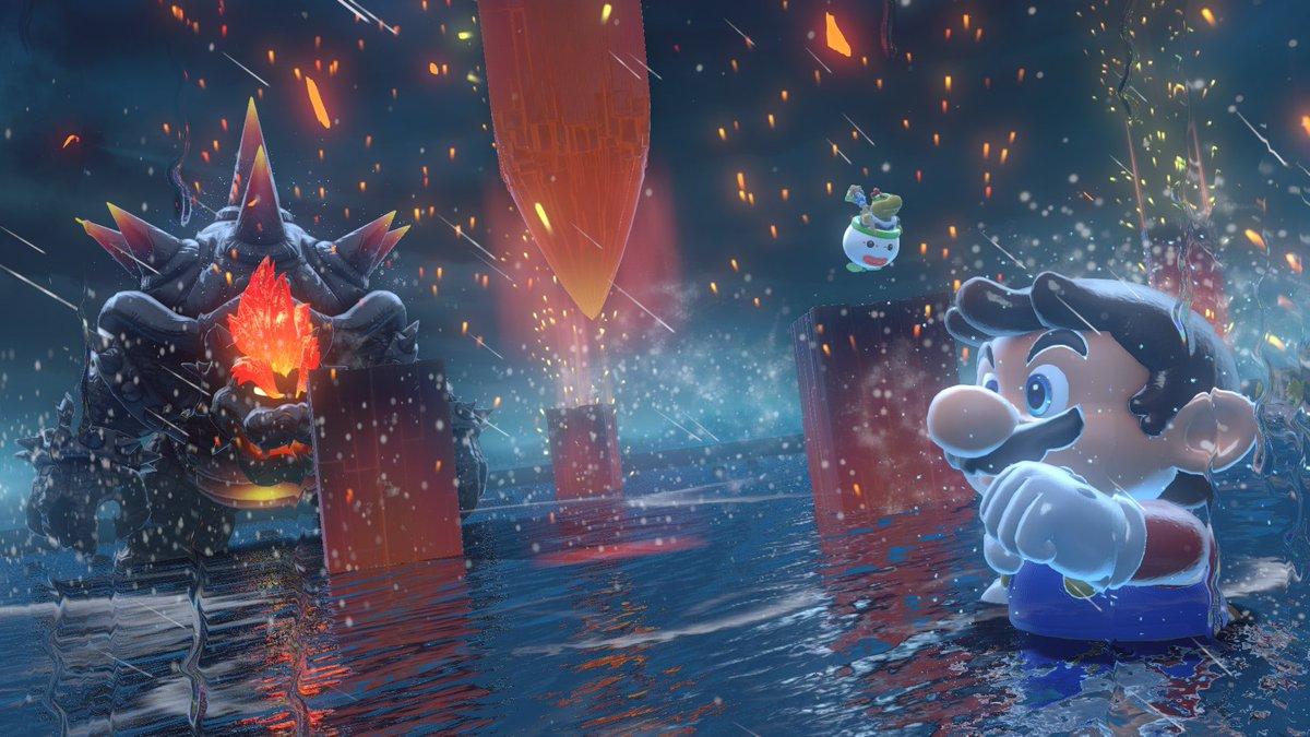 Closer look at some fights in Bowser's Fury from one of the official websites #BowsersFury #SuperMario3DWorld