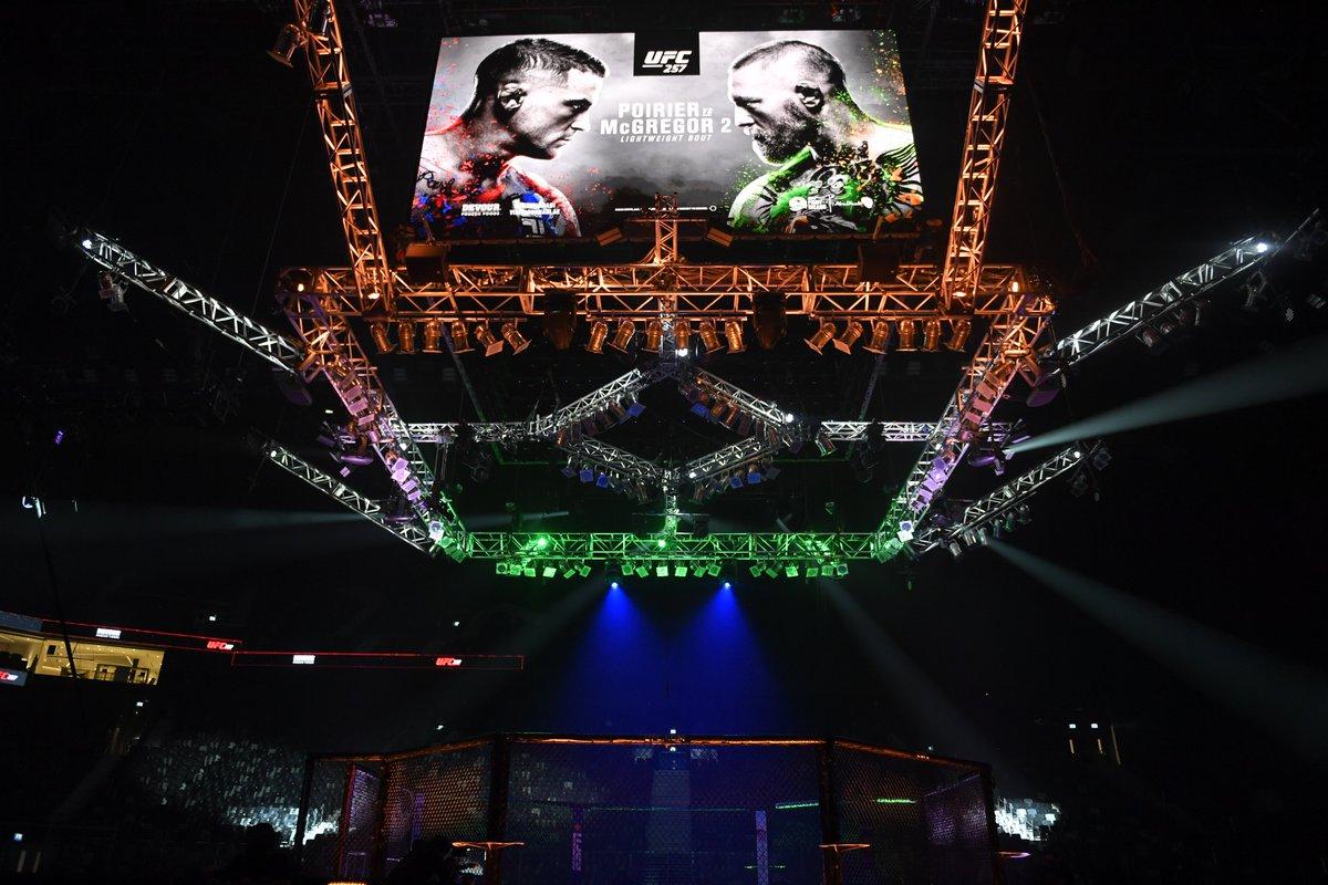 Welcome to the show.   [ #UFC257   #InAbuDhabi   @VisitAbuDhabi ]