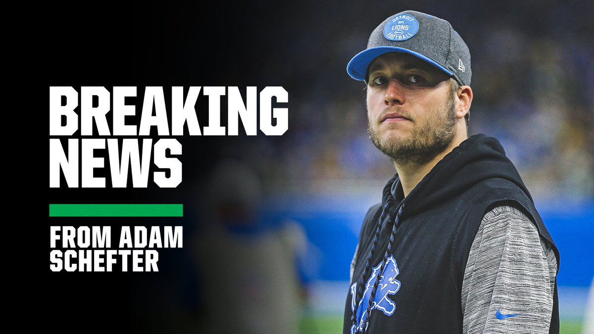 Breaking: The Lions and QB Matthew Stafford are expected to part ways this offseason, with Detroit listening to trade offers starting next week, per @AdamSchefter.