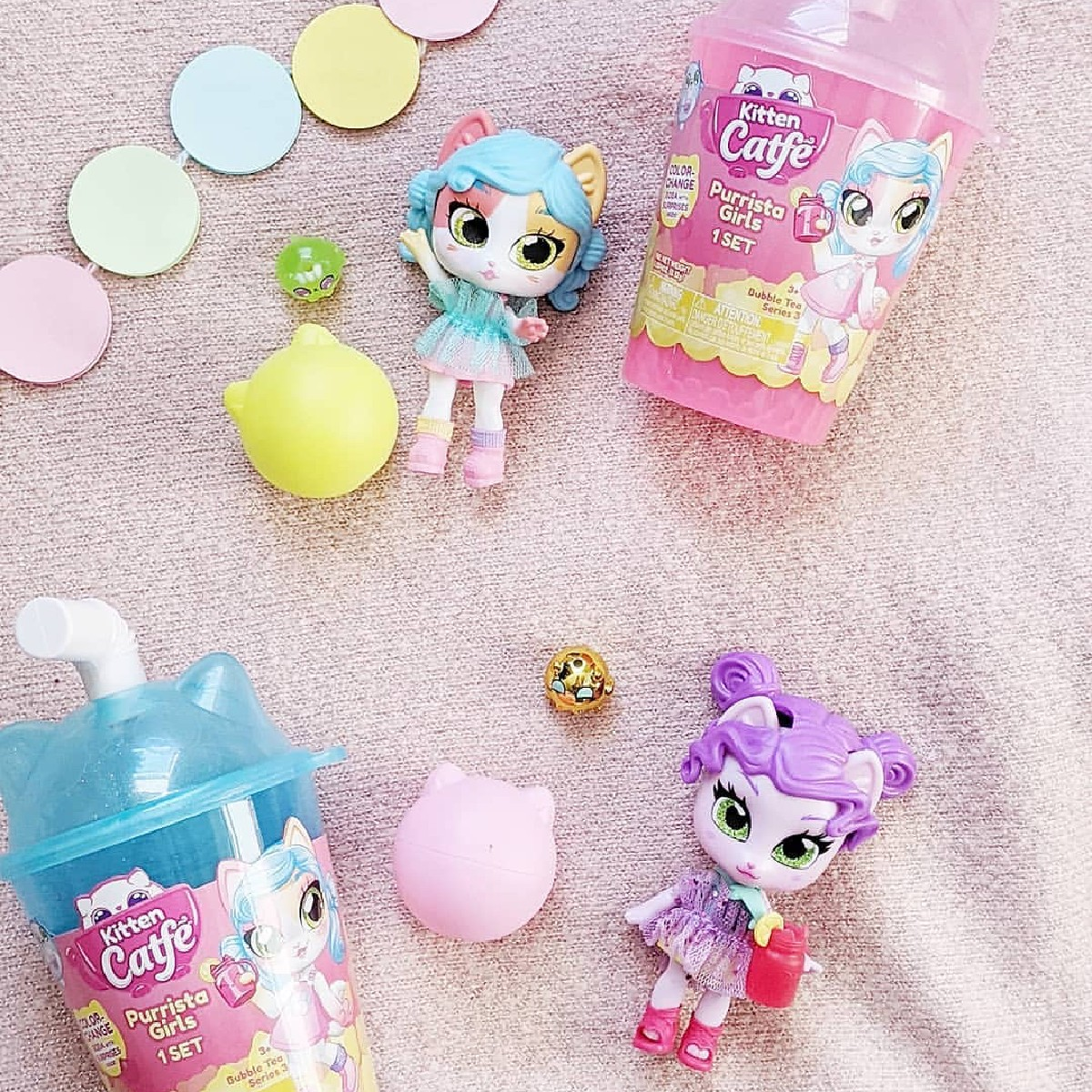 It's #Caturday and these #KittenCatfe Purrista Girls are ready to play!🐾💖  #JAKKSToys