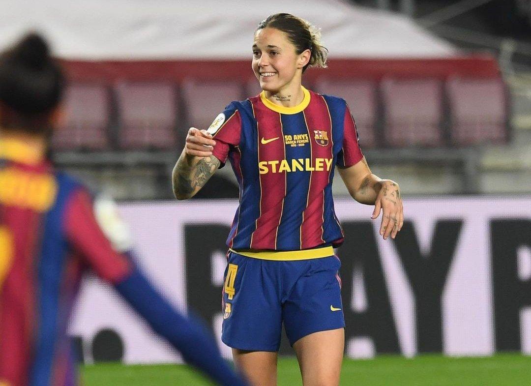 Mapi León es la jugadora del Barcelona que más minutos (973) tuvo en #PrimeraIberdrola