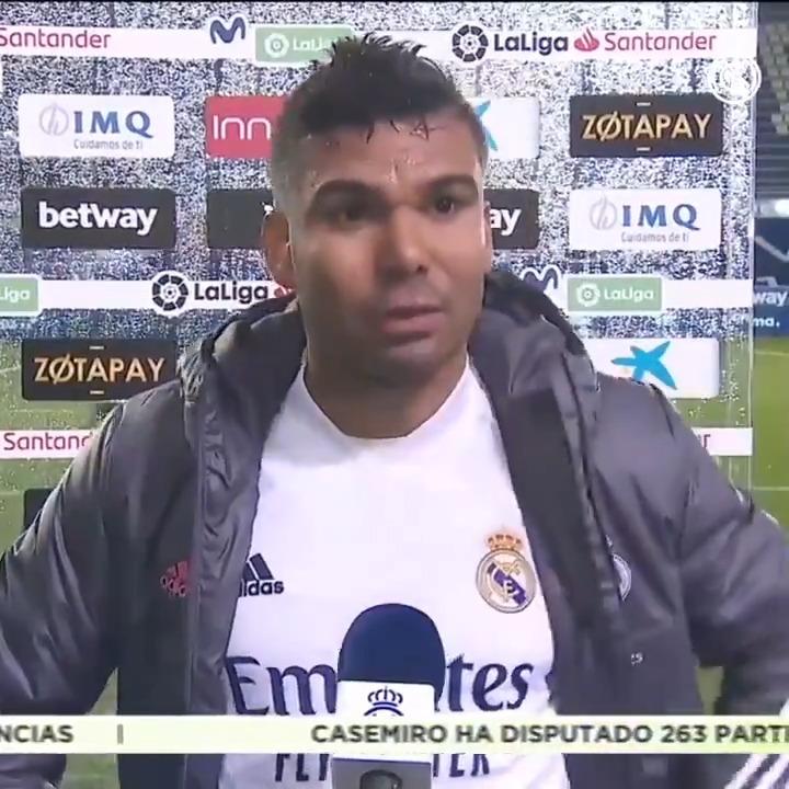 ⚽💬 Firmó nuestro primer gol en Vitoria. ¡Las palabras de @Casemiro!  #RMLiga | #HalaMadrid