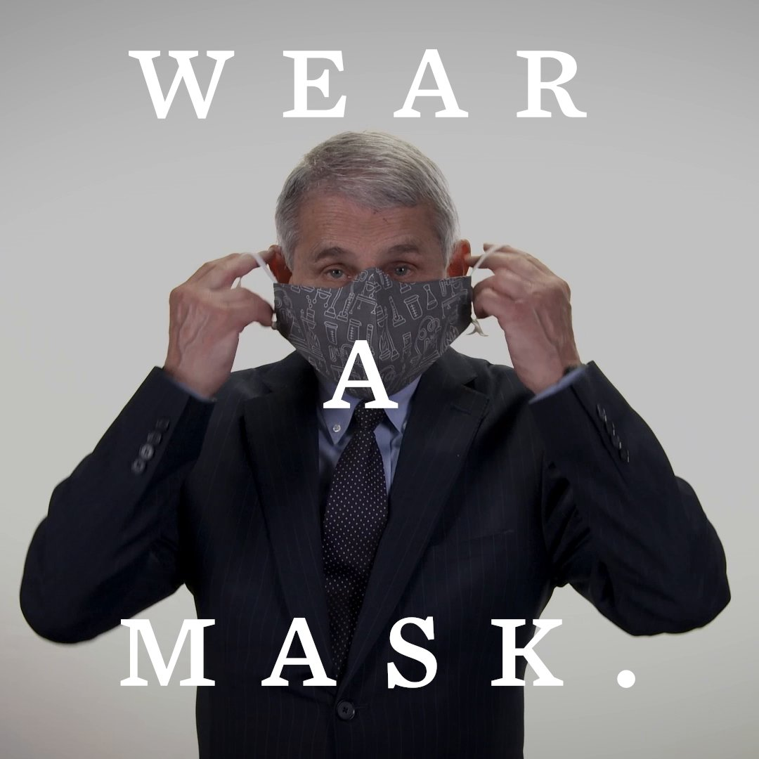 Replying to @WhiteHouse: Please wear a mask.
